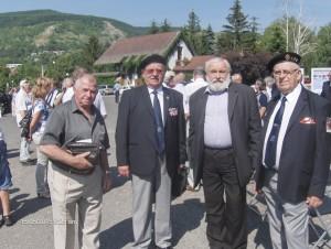 Zlava pplk. Ing. Polák, plk. Ing. Halapin, priateľ Mochnacký a plk. Ing. Macoun